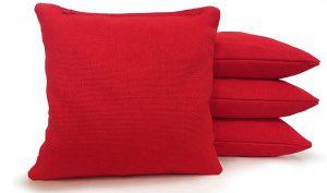 Red cornhole bags